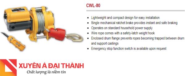 Tời điện mini 80kg chính hãng