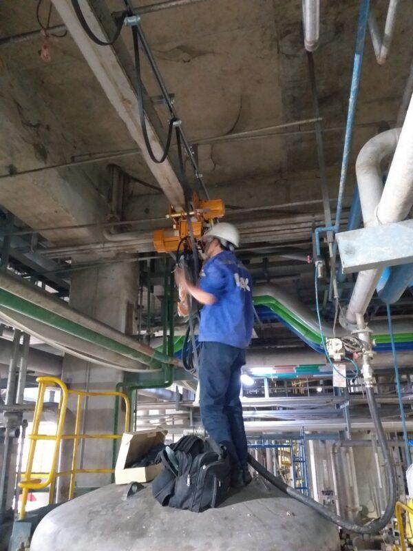 Lắp Đặt Hệ Điện Cho Palang Xích Điện SAMSUNG Hàn Quốc