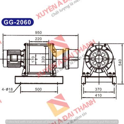 Tời điện 2 tấn 3 pha KIO - Wind Đài Loan Model GG - 2060