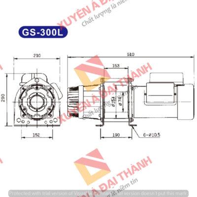 Tời điện Đài Loan 300kg KIO - Winch Model GS- 300L