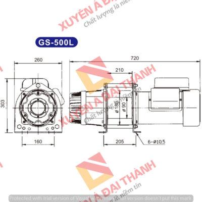 Tời điện Đài Loan 500kg KIO - WINCH model GS- 500L