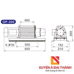 Thông số kĩ thuật tời điện Kio 300kg thang tải hàng