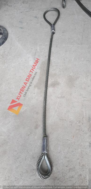 sling cáp thép 1 đầu mắt cứng 1 đầu mắt mềm tại Xuyên Á Đại Thành